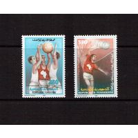 Тунис-1987,(Мих.1154-1155)  ** , Спорт, Баскетбол,Волейбол