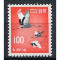 Япония - 1968г. - Журавль - полная серия, MNH, с незначительным повреждением клея [Mi 1007] - 1 марка