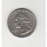 25 центов (квотер) США 1997 Р Лот 3286