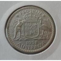 """Австралия 1 шиллинг 1952 """"Меринос - порода тонкорунных овец"""""""