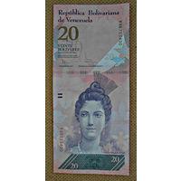 Венесуэла 20 боливаров, 2014г., UNC
