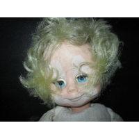 Кукла из СССР клоун.высота 35 см.