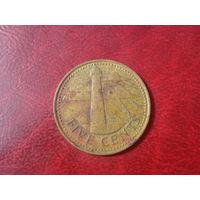 5 центов 1973 год Барбадос