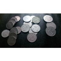 1, 2, 5 центов 1991 (22 монеты одним лотом)