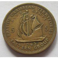 Восточные Карибы 5 центов 1963 - малый тираж