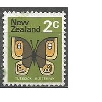 Новая Зеландия. Бабочка Бархатница. 1970г. Mi#519.