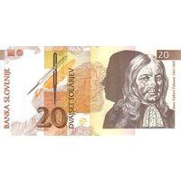 Словения 20 толар 1992 UNC