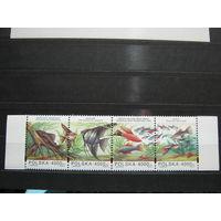 Марки - фауна рыбы Польша 1994 сцепка