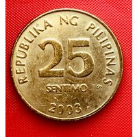 15-22 Филиппины, 25 сентимо 2003 г.