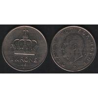 Норвегия km419 1 крона 1981 год (K) (h04)
