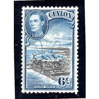 Цейлон.Ми-233. Король Георг VI и залив Коломбо. 1938.