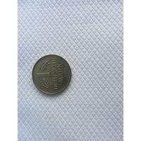 1 марка 1984F Германия КМ# 110 Медно-никелевый сплав