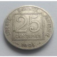 Франция, 25 сантимов, 1903 год