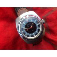 Часы АМФИБИЯ 2209 БОЧКА ШТУРВАЛ из СССР 1970-х, СТАЛЬ НЕРЖАВЕЮЩАЯ