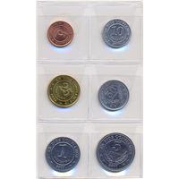 Никарагуа к-т  монет 6 шт. 1997 - 2007гг. скидки.