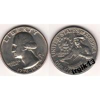 25 центов 1976 года. Барабанщик. США