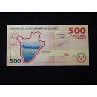 Бурунди 500 франков 2015г UNC
