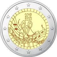 2 евро Эстония 2019 Фестиваль песни UNC из ролла