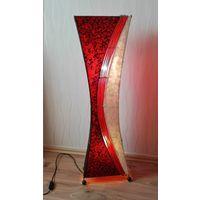 Уникальная напольная лампа 60х годов. Ковка,перламутр,стекло,бамбук. Мид центури, космос эра,рокабилли...Идеальное состояние.