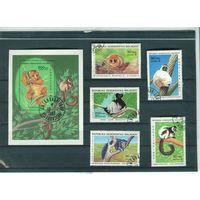Мадагаскар 1983г, лемуры, 5м. 1бл.