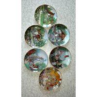 Набор коллекционных декоративных тарелок из серии Lilliput Line. Made in England