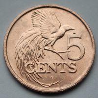 Тринидад и Тобаго, 5 центов 2012 г