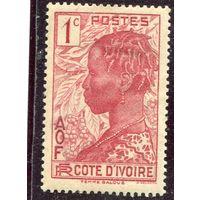 Кот д,Ивуар. Французская колония. Голова девушки, 1с