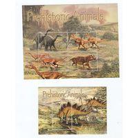 2 марки  динозавры.