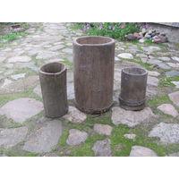 Ступка деревянная и две липовки малые