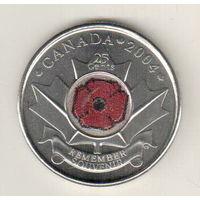 Канада 25 цент 2004 День памяти