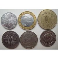Сирия 50 пиастров 1968, 1 фунт 1991, 2 и 5 фунтов 1996, 10 фунтов 2003, 25 фунтов 1996 г. Цена за все (u)