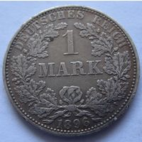Германия 1 марка 1896 отметка монетного двора A - Берлин