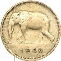РАСПРОДАЖА!!! - Бельгийское КОНГО 2 франка 1946 год