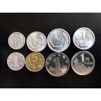 Монеты Китая (одним лотом - 8 шт.). Штемпельный блеск.