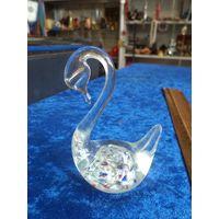 Лебедь, стекло, 8 см.