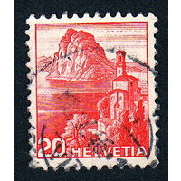 19: Швейцария, почтовая марка, 1936 год, номинал 20с, SG#375A