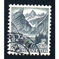55: Швейцария, почтовая марка, 1936 год, номинал 40с, SG#379A