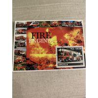 Ангола 2002. Пожарные машины мира. Блок