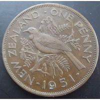 Новая Зеландия. 1 пенни 1951