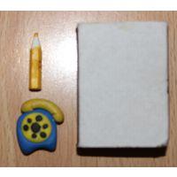 Телефон, карандаш для кукол (аксессуары)