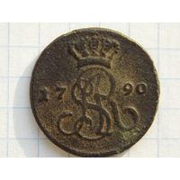 Грош 1790 г. в сохране. ( НЕ чищен, с 1 рубля )