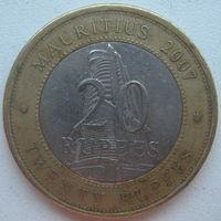 Маврикий 20 рупий 2007 г. 40 лет Банку Маврикия (u)