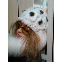 Меховая новая шапка кролик REX