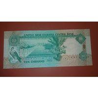 Банкнота 10 дирхам ОАЭ  2001