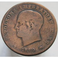 Королевство Италия 3 чентезимо 1810 М (Наполеон I Бонапарт)