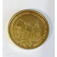 Германия жетон 1989 понедельничные демонстрации в ГДР возле церкви Святого Николая