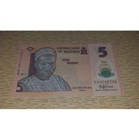 Нигерия 5 наира 2017 unc