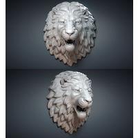 """Скульптура на стену """"Голова льва"""""""
