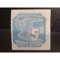 Богемия и Моравия 1943 Газетная марка 5г