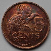 Тринидад и Тобаго, 5 центов 2002 г